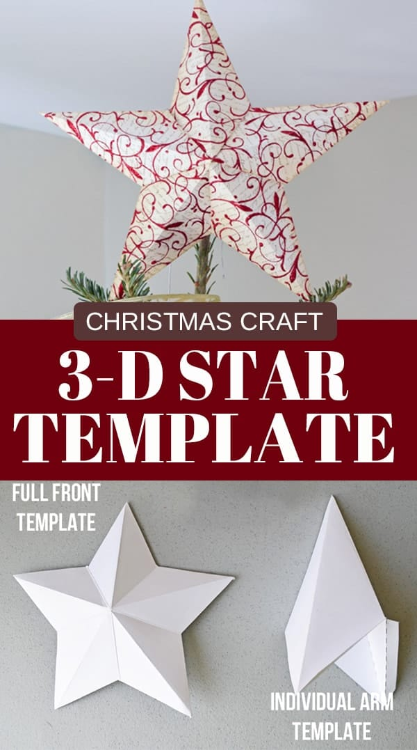 3 D Star Tree Topper With Free Printable Template Craving Some Creativity