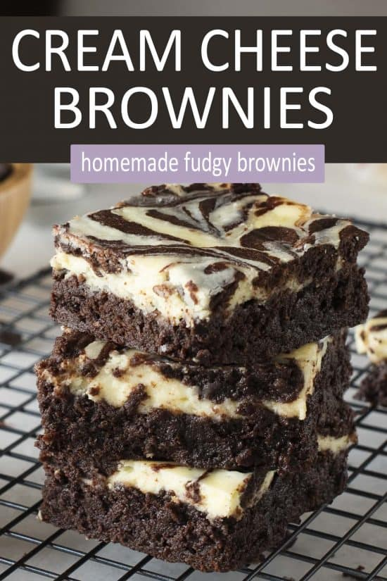 Cream Cheese Brownies Recipe - decadent cheesecake brownies
