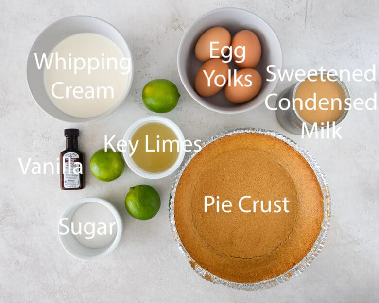 Ingredients with text labels.