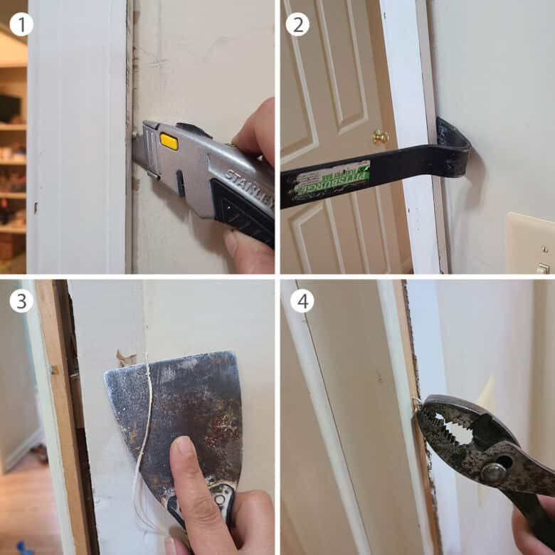Step by step instructions for removing casing.